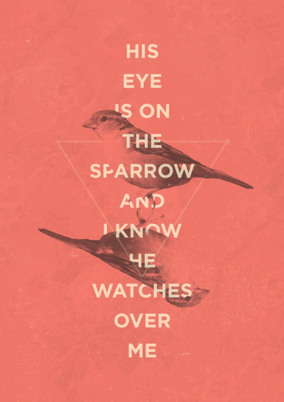 image found here: http://the-worship-project.tumblr.com/post/54327156660/his-eye-is-on-the-sparrow-civilla-d-martin